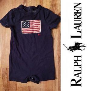 Ralph Lauren American Flag Romper